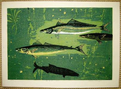 Kasamatsu Shiro: Playing Fish — 遊魚 - Japanese Art Open Database