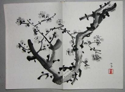 Takeuchi Seiho: Sumi-e plum tree - Japanese Art Open Database