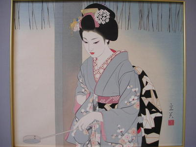 Tatsumi Shimura: Hatsumode — 初詣 - Japanese Art Open Database