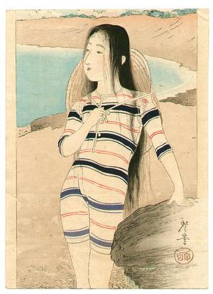 Tsukioka Kogyo: Beach Girl - Japanese Art Open Database