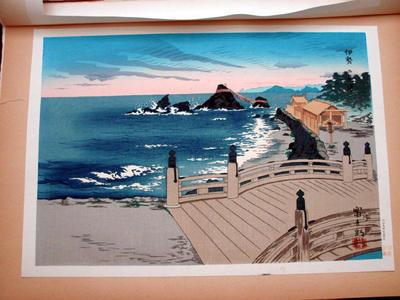 徳力富吉郎: Ise Futami Bay in Mie Prefecture — 伊勢二見浦 - Japanese Art Open Database