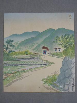 Tokuriki Tomikichiro: New Green Leaves at Ohara — 新緑の大原 - Japanese Art Open Database