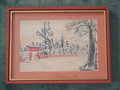 Tokuriki Tomikichiro: Red Torii in Snow - Japanese Art Open Database