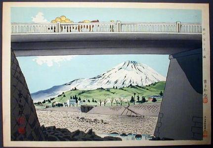 徳力富吉郎: Unknown - Fuji and Bridge - Japanese Art Open Database