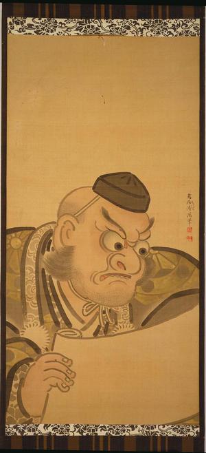 二代目鳥居清満: The Warrior Benkei (Painting on Silk) — 弁慶 - Japanese Art Open Database