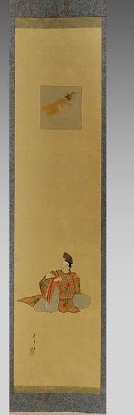 Torii Kiyotada I: The Poet Kasen — 歌仙図 - Japanese Art Open Database