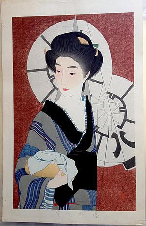 Torii Kotondo: Coming out of the bath house (Yugaeri) — 湯帰り - Japanese Art Open Database