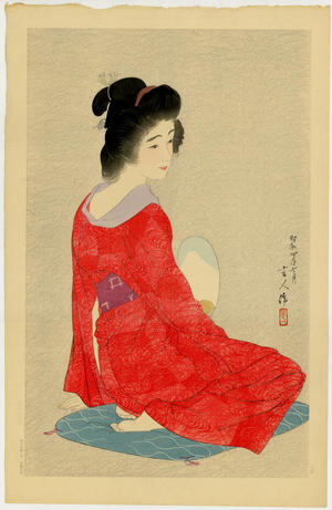 鳥居言人: Nagajuban- Long Undergarment- Variant 1 - Japanese Art Open Database