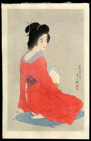 鳥居言人: Nagajuban- Long Undergarment- Variant 1 - Japanese Art Open Database