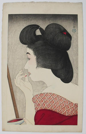 Torii Kotondo: Rouge- lipstick — くち紅 - Japanese Art Open Database