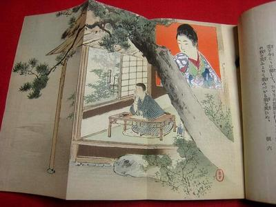 Mizuno Toshikata: Bijin and boyfriend - Japanese Art Open Database