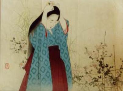 Mizuno Toshikata: Chrysanthemum Viewing — 菊見 - Japanese Art Open Database