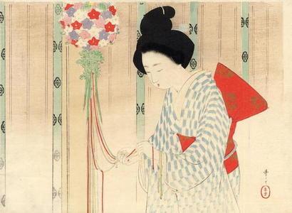Mizuno Toshikata: Flower scent ball - Japanese Art Open Database