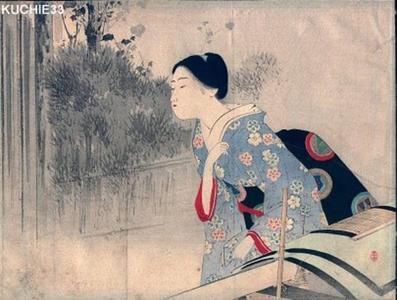 Mizuno Toshikata: Malice — 扇の恨 - Japanese Art Open Database