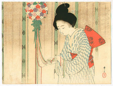 水野年方: Ornamental Ball - Japanese Art Open Database