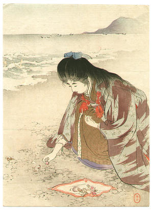 水野年方: Spring Sea - Japanese Art Open Database