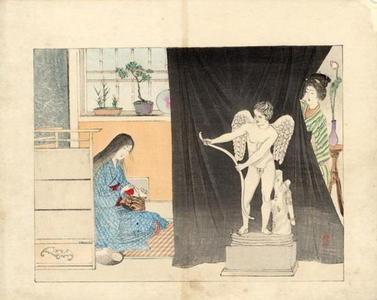 Mizuno Toshikata: Statue of Eros - Japanese Art Open Database