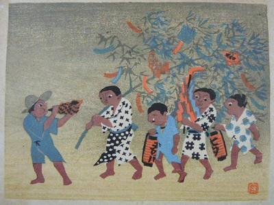 Toshun Mori: Tanabata Matsuri in Hida — 飛騨の七夕祭 - Japanese Art Open Database
