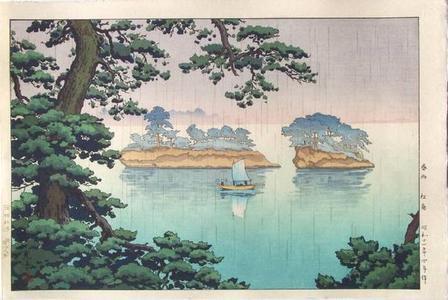 風光礼讃: Spring Rain at Matsushima - Japanese Art Open Database