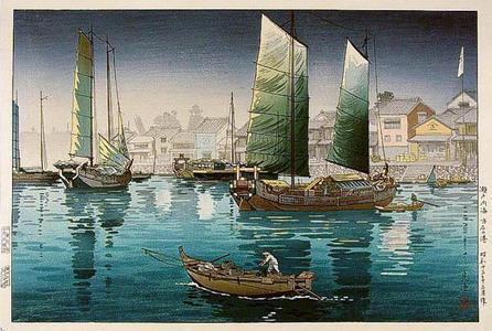 風光礼讃: Akashi Bay, Inland Sea at Seto - Japanese Art Open Database