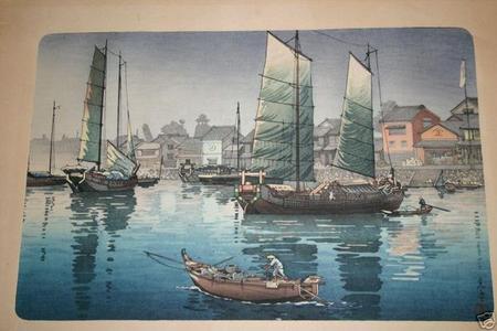 Tsuchiya Koitsu: Akashi Bay, Inland Sea at Seto - Japanese Art Open Database