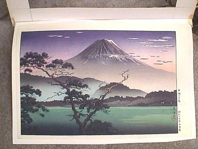 Tsuchiya Koitsu: Fuji from Lake Sai - Evening View from Lake Sai — Saiko no Yuushou - Japanese Art Open Database