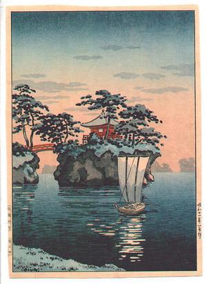 風光礼讃: Godaido Shrine, Matsushima - Japanese Art Open Database