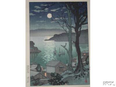風光礼讃: Maizuru Harbor at Night - Japanese Art Open Database