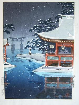 Tsuchiya Koitsu: Snowy Miyajima — 雪の宮島 - Japanese Art Open Database