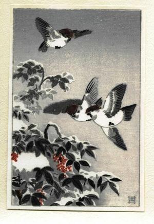 風光礼讃: Sparrows - Japanese Art Open Database