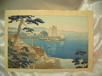 風光礼讃: The Mouth of the Banyu River — 馬入川 川口 - Japanese Art Open Database