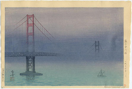 Tsuruoka Kakunen: Golden Gate Bridge in San Francisco - Japanese Art Open Database