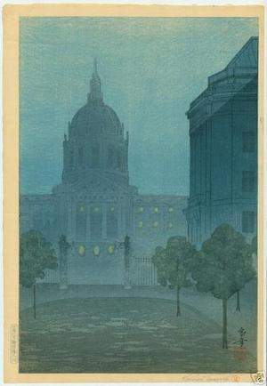 Tsuruoka Kakunen: View of City Hall in San Francisco - Japanese Art Open Database