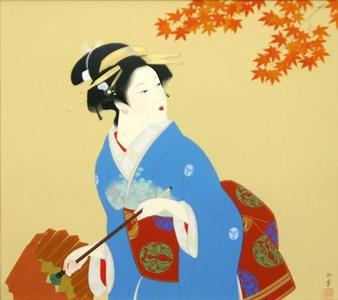 Uemura Shoen: Shower in late autumn — しぐれ - Japanese Art Open Database