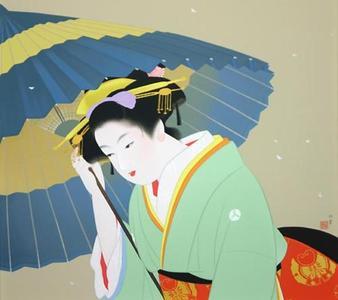 Uemura Shoen: Snow — 雪 - Japanese Art Open Database