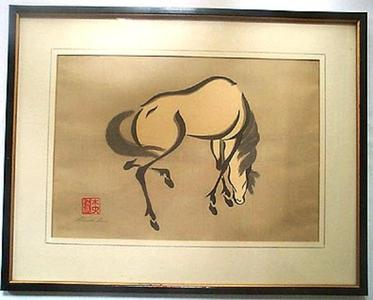 Urushibara Mokuchu: horse - Japanese Art Open Database