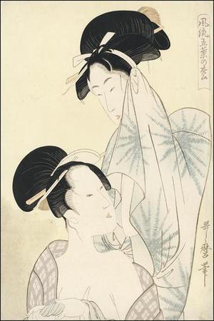 Kitagawa Utamaro: Double Bijin Okubi-e - Japanese Art Open Database
