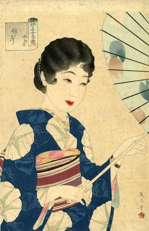 Watanabe Ikuharu: September - The Sound of Cicadas — 秋初月 蝉のこえ - Japanese Art Open Database