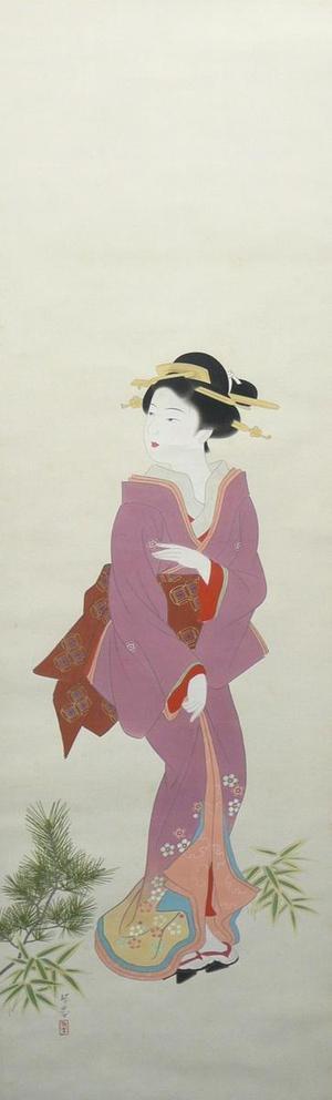 Watanabe Ikuharu: Early Spring — 早春 - Japanese Art Open Database