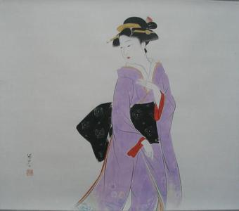 Watanabe Ikuharu: Strolling — 漫歩 - Japanese Art Open Database
