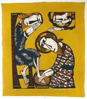 Watanabe Sadao: Christ Washing the Feet of Saint Peter - Japanese Art Open Database