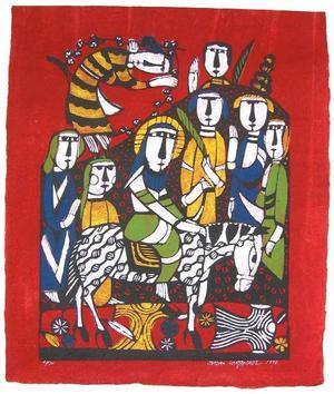 Watanabe Sadao: The Entry into Jerusalem - Japanese Art Open Database