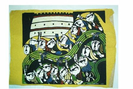 Watanabe Sadao: Walls of Jericho - Japanese Art Open Database