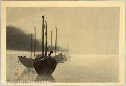 Watanabe Seitei: Boats in the Mist - Japanese Art Open Database