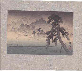 山本昇雲: Fishermen in Rainstorm - Japanese Art Open Database