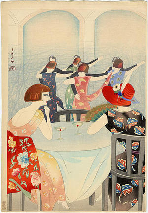 Yamamura Koka: Dancing at the New Carlton Hotel in Shanghai - Japanese Art Open Database