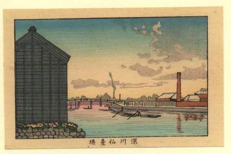 井上安治: Fukugawa Sendaihori - Japanese Art Open Database