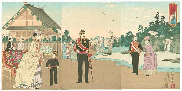 Inoue Yasuji: Imperial Family at Shito Shrine - Japanese Art Open Database