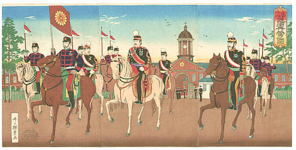 Inoue Yasuji: Imperial Guards - Japanese Art Open Database