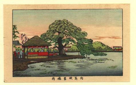 井上安治: The grounds of Mukaishima Akiba (Mukaishima Akiba Keida) - Japanese Art Open Database